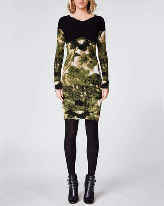 Nicole Miller Camo Double Knit Dress