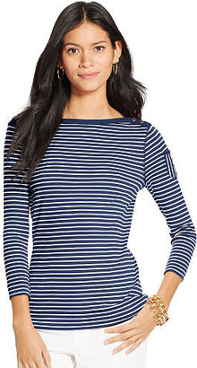 Ralph Lauren Striped Boatneck Tee $55 thestylecure.com
