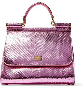 61166936151e Dolce   Gabbana Pink Metallic Leather Bags For Women - ShopStyle Canada