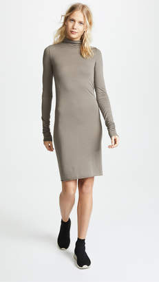 Rick Owens Lilies Mock Neck Long Sleeve Dress