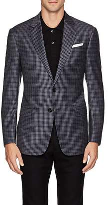Giorgio Armani Men's Soft Gingham Wool Two-Button Sportcoat