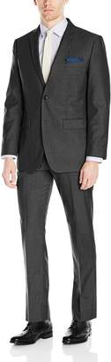 Perry Ellis Portfolio Men's Two Button Slim Fit Check Pattern Suit