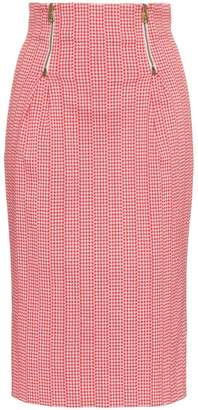 Versace Houndstooth pencil skirt