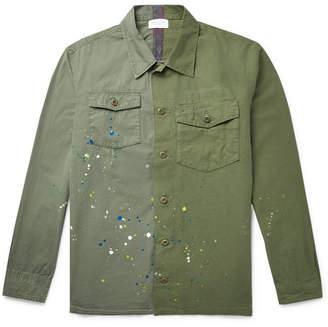 John Elliott Paint-Splattered Slub Cotton Shirt