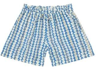 Little Karl Marc John Sale - Inty Lurex Geometric Print Shorts