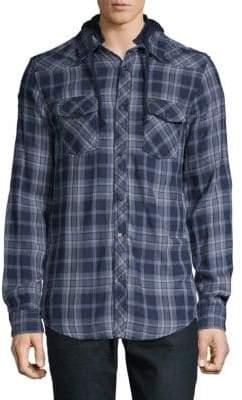 Buffalo David Bitton Hooded Cotton Shirt