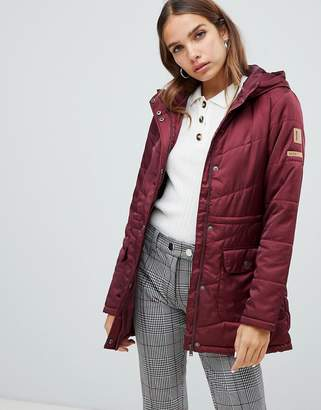 Noisy May hooded padded jacket