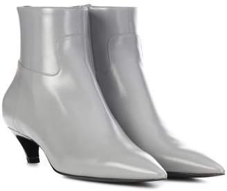 Balenciaga Slash Heel leather ankle boots