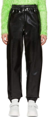 MSGM Black Vinyl Lounge Pants