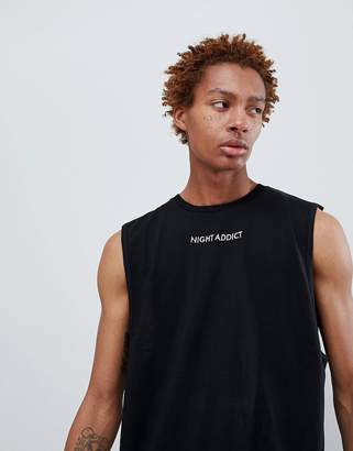 Night Addict Logo Oversized Singlet