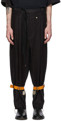 Bed J.W. Ford BED J.W. FORD Black Cargo Trousers