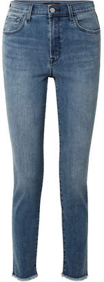 J Brand Ruby 30 High-rise Slim-leg Jeans - Mid denim