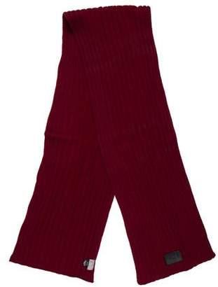 Christian Dior Wool Rib Knit Scarf