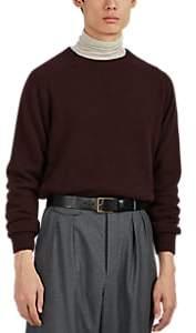 Margaret Howell Men's Cashmere Saddle-Shoulder Sweater - Wine