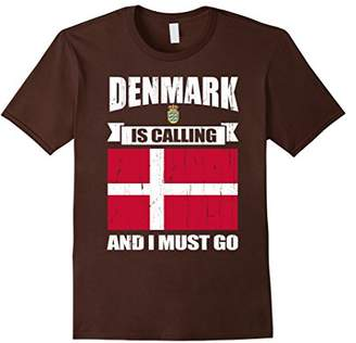 Mens Denmark calling me gifts T-Shirt Small