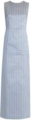 THE VAMPIRE'S WIFE Mermaid striped silk-blend maxi dress