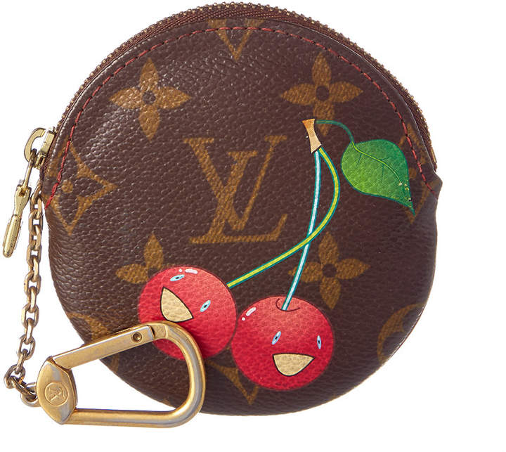 Louis Vuitton Limited Edition Takashi Murakami Canvas Port Monnaie Round Coin Case