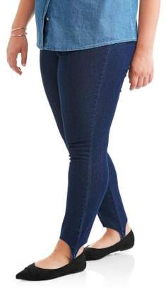 Just My Size Women's Plus-Size Stirrup Stretch Pull-On Legging, Petite