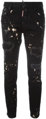 Dsquared2 Cool Girl paint splatter jeans $465 thestylecure.com