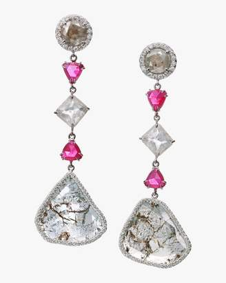 Of A Kind Nina Runsdorf Diamond Slice Drop Earrings