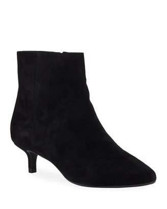 Taryn Rose Nelli Kitten Heel Suede Ankle Booties