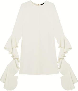 Ellery Kilkenny Ruffled Crepe Mini Dress - Ivory