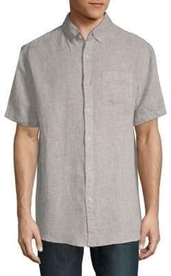 Saks Fifth Avenue Short-Sleeve Linen Button-Down Shirt