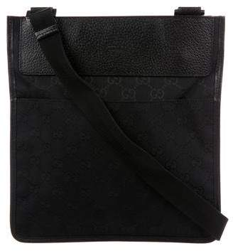 Gucci GG Canvas Flat Messenger Bag