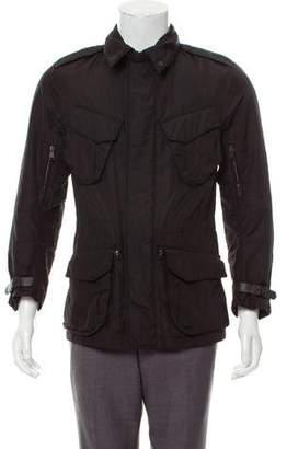 Ralph Lauren Black Label Leather-Trimmed Utility Jacket