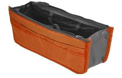 Muzza Inc Premium New Purse Organiser Purse Arranger Travel Helper Storage Organisation Orange Coral 2 Unit