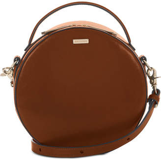 Brahmin Lane Topsail Circle Top-Handle Leather Crossbody