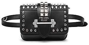 9ad477e62b6f Prada Women s Medium Cahier Studded Leather Belt Bag