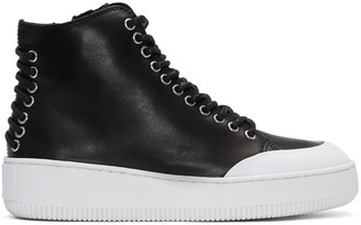 McQ Alexander Mcqueen Black Netil High-Top Sneakers $365 thestylecure.com