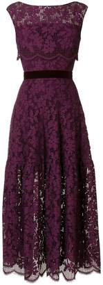 Talbot Runhof floral lace dress