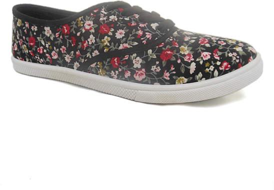 Black Floral Range Sneaker - Women