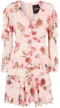 Nicholas Frill Sleeves Floral Dress
