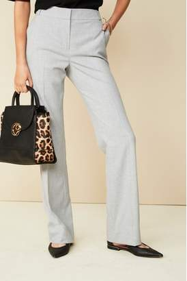 Next Womens Grey Tailored Boot Cut Trousers