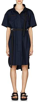 Sacai Women's Cotton Poplin Open-Back Dress - Navy