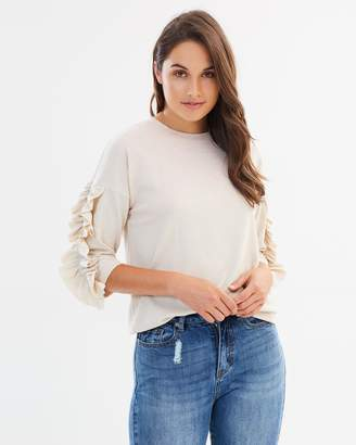 Only Ruffled LS Blouse