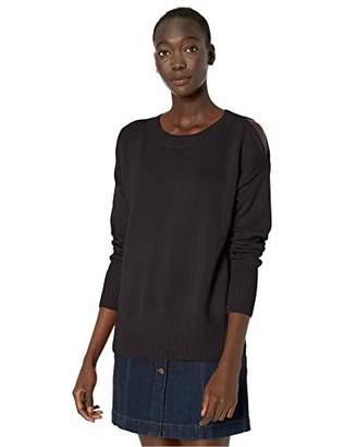 BCBGMAXAZRIA Women's Cold Shoulder Sweater