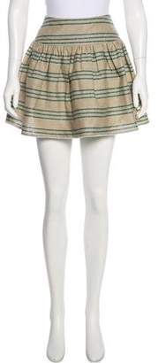Opening Ceremony Silk Striped Skirt