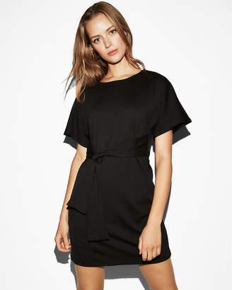 Express Petite Tie Front Dolman Dress