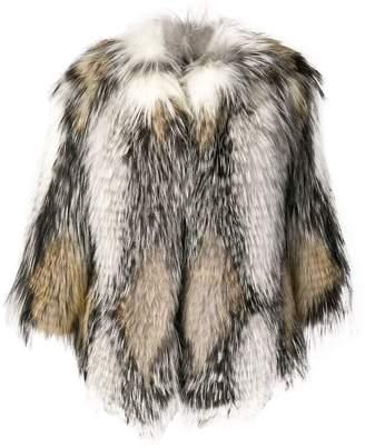 Yves Salomon contrast fur jacket