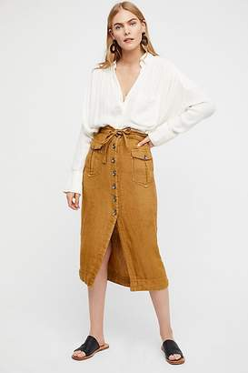 Straight To The Point Midi Skirt