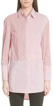 St. John Striped Shirting Tunic