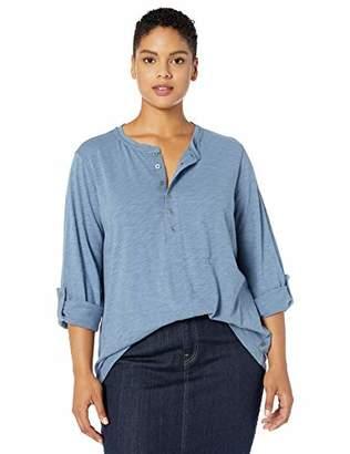 Jag Jeans Women's Plus Size Eleanor Slub Jersey Henley