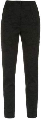 Dolce & Gabbana floral brocade skinny trousers