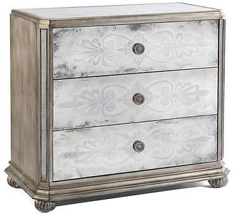 John-Richard Collection Exeter 3-Drawer Dresser - Silver/Mirrored