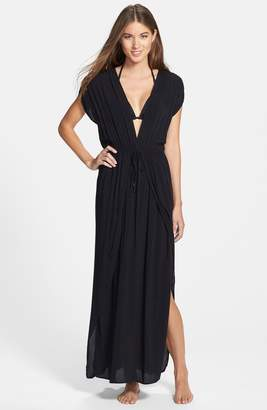 Elan International Deep V-Neck Cover-Up Maxi Dress