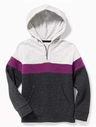 Old Navy Color-Blocked 1/4-Zip Hoodie for Boys